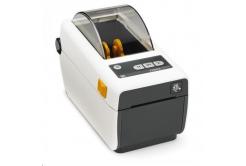 Zebra ZD410 ZD41H22-D0EW02EZ tlačiareň etikiet, 8 dots/mm (203 dpi), MS, RTC, EPLII, ZPLII, USB, BT (BLE, 4.1), Wi-Fi, bílá