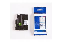 Brother TZ-FA3, 12mm x 8m, modrý tisk/bílý podklad, originální páska
