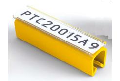 Partex PTC50015A4, žltý, 100ks, (6,0-7,2mm), PTC nacvakávací pouzdro na štítky