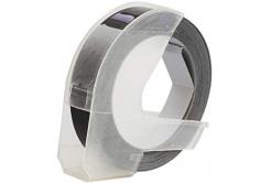 Kompatibilná páska s Dymo S0898130, 9mm x 3m, biela tlač / čierný podklad