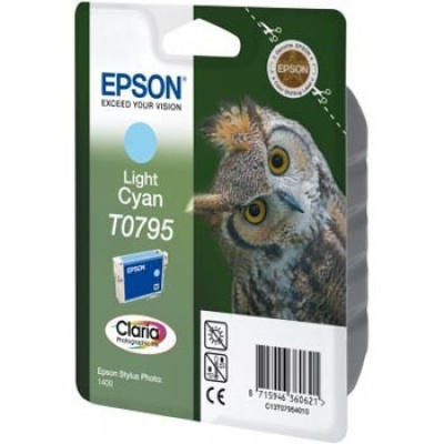 Epson C13T079540 svetlo azúrová (light cyan) originálna cartridge