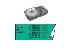 Casio originálna páska do tiskárny štítků, Casio, XR-6GN1, čierna tlač/zelený podklad, nel