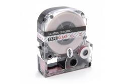 Epson LC-ST12RW, 12mm x 8m, červený tisk / průhledný podklad, kompatibilní páska