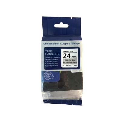 Kompatibilná páska s Brother TZ-M951 / TZe-M951, 24mm x 8m, čierna tlač / strieborný podklad