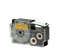 Kompatibilná páska s Casio XR-18GD1 18mm x 8m čierny tisk / zlatý podklad