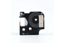 Kompatibilná páska s Dymo 45012, S0720520, 12mm x 7m, červená tlač/priehľadný podklad