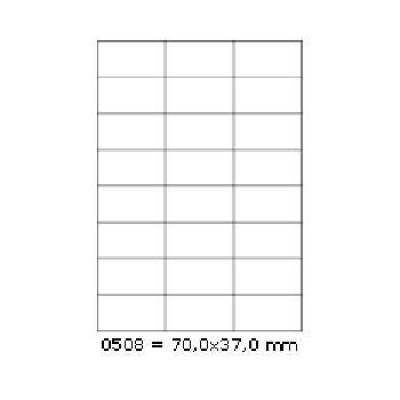 Samolepiace etikety 70 x 37 mm, 24 etikiet, A4, 100 listov