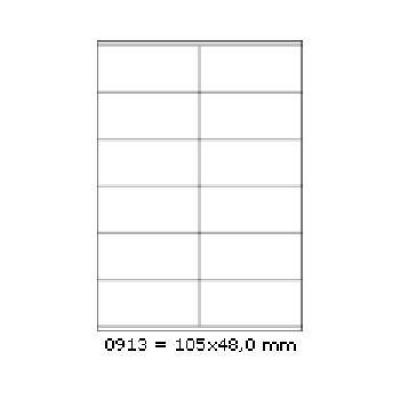 Samolepiace etikety 105 x 48 mm, 12 etikiet, A4, 100 listov