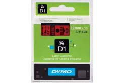 Dymo D1 45807, S0720870, 19mm x 7m, čierna tlač/červený podklad, originálna páska