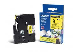Brother TZ-FX621 / TZe-FX621, 9mm x 8m, čierna tlač/žltý podklad, originálna páska