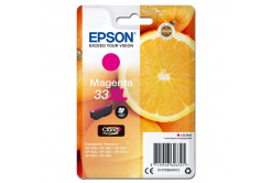 Epson originálna cartridge C13T33634012, T33XL, magenta, 8,9ml, Epson Expression Home a Premium XP-530,630,635,830