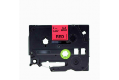 Brother TZe-V421, 9mm x 5,5m, černý tisk / červený podklad, vinyl, kompatibilní páska