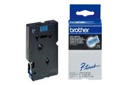 Brother TC-591, 9mm x 7,7m, čierna tlač / modrý podklad, originálna páska