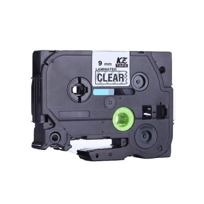 Kompatibilná páska s Brother TZ-S121/TZe-S121 9mm x 8m extr.adh. čierna tlač / priehľadný podklad