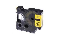 Kompatibilná páska s Dymo 18054, S0718290, Rhino, 9mm x 1,5m čierna tlač / žltý podklad