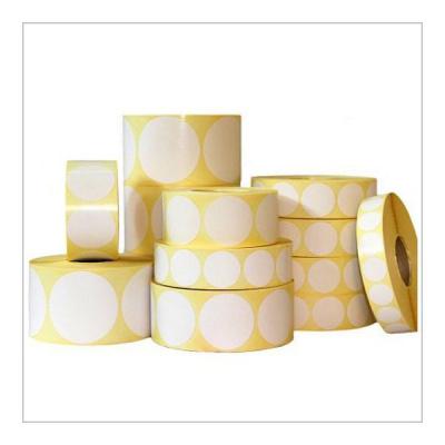 Samolepicí PP (polypropylen) etikety, kulaté ?35mm, 1000ks, pro TTR, bílé, role