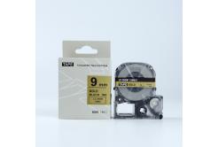 Epson LK-SM9ZW, 9mm x 9m, černý tisk / zlatý podklad, kompatibilní páska