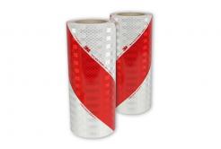 3M 3410 AP Výstražné značení vozidel, červeno-bílé šrafování, levé + pravé, šíře 141 mm, metráž