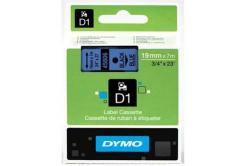 Dymo D1 45806, S0720860, 19mm x 7m, čierna tlač / modrý podklad, originálna páska