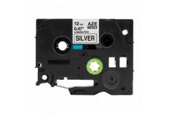 Kompatibilná páska s Brother TZ-931 / TZe-931, 12mm x 8m, čierna tlač / strieborný podklad
