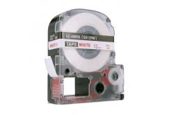 Epson LC-SS12RW, 12mm x 8m, červený tisk / bílý podklad, kompatibilní páska