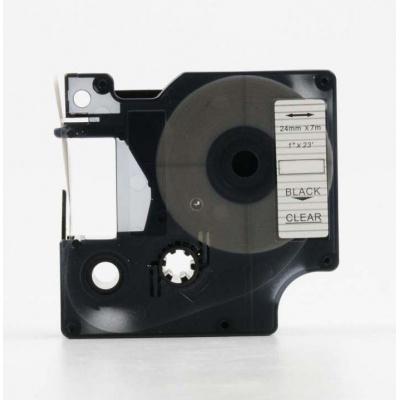 Kompatibilná páska s Dymo 53710, S0720920, 24mm x 7m, čierny tisk / priehľadný podklad
