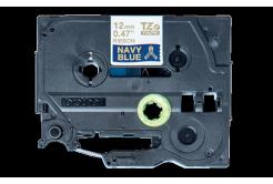 Brother TZ-RN34 / TZE-RN34, 12mm x 4m, zlatá tlač / modrý podklad, originálna páska