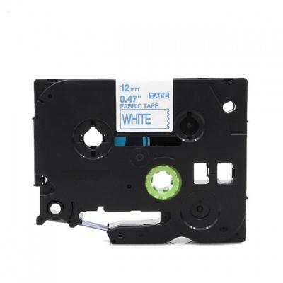 Kompatibilná páska s Brother TZe-FA3, 12mm x 3m, modrá tlač / biely podklad, zažehlovací