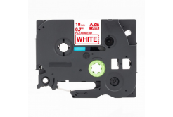 Kompatibilná páska s Brother TZ-FX242 / TZe-FX242, 18mm x 8m, flexi, červená tlač / biely podklad