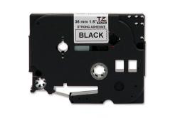 Kompatibilná páska s Brother TZ-S261/TZe-S261 36mm x 8m,extr.adh. čierny tisk/biely podklad