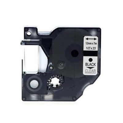 Kompatibilná páska s Dymo 45010, S0720500, 12mm x 7m, čierna tlač/priehľadný podklad