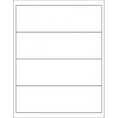 Samolepiace etikety 190 x 58 mm, 5 etikiet, A4, 100 listov
