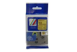 Kompatibilná páska s Brother TZ-841 / TZe-841, 18mm x 8m, čierna tlač / zlatý podklad