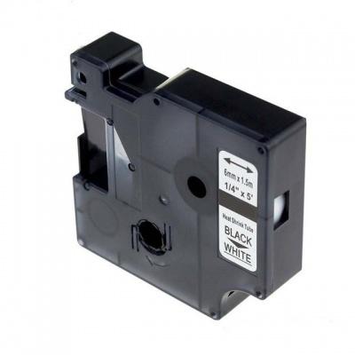 Kompatibilná páska s Dymo 18051, S0718260 6mm x 1,5m čierna tlač / biely podklad