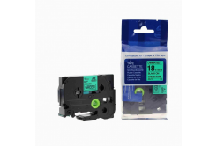 Kompatibilná páska s Brother TZ-741 / TZe-741, 18mm x 8m, čierna tlač / zelený podklad