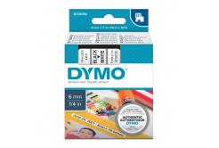 Dymo D1 43613, S0720780, 6mm x 7m čierna tlač / biely podklad, originálna páska