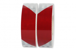 3M 823i Reflexní červeno-bílá páska, pravostranná, šíře 50 mm