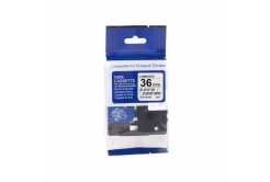 Kompatibilná páska s Brother TZ-S161/TZe-S161, 36mm x 8m, extr.adh. čierny tisk / čirý podk
