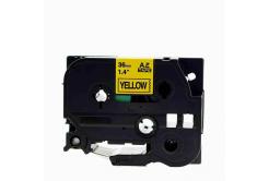 Brother TZe-V661, 36mm x 5,5m, černý tisk / žlutý podklad, vinyl, kompatibilní páska