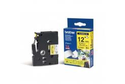 Brother TZ-FX631 / TZe-FX631, 12mm x 8m, čierna tlač/žltý podklad, originálna páska