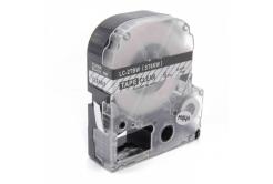 Epson LC-ST6KW, 6mm x 8m, černý tisk / průhledný podklad, kompatibilní páska
