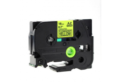 Kompatibilná páska s Brother TZ-C41/TZe-C41, signálne 18mm x 8m, čierna tlač/žltý podklad