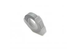 Dymo Omega, 9mm x 3m, biela tlač / strieborný podklad, kompatibilná páska