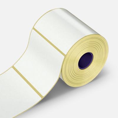 Samolepicí PP (polypropylen) etikety, 55x30mm, 1000ks, pro TTR, bílé, role