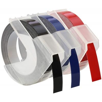 Kompatibilná páska s Dymo S0847750, 9mm x 3 m, biela tlač / čierna, modrá, červená