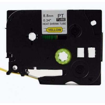 Kompatibilná páska s Brother HSe-621, 8,8mm x 1,5m, čierna tlač / žltý podklad