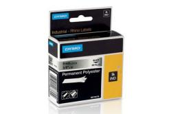 Dymo 18485, S0718170, 9mm x 5,5m, čierna tlač/metalický podklad, originálna páska