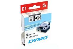 Dymo D1 43610, S0720770, 6mm x 7m čierna tlač / priehľadný podklad, originálna páska