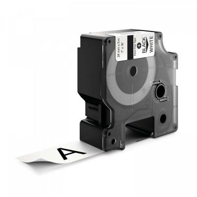 Kompatibilná páska s Dymo 1734523, Rhino 24mm x 5,5m čierny tisk / biely podklad, polyester