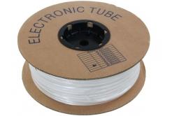 Popisovací PVC bužírka kruhová R30, 3,0mm, 95m, bílá
